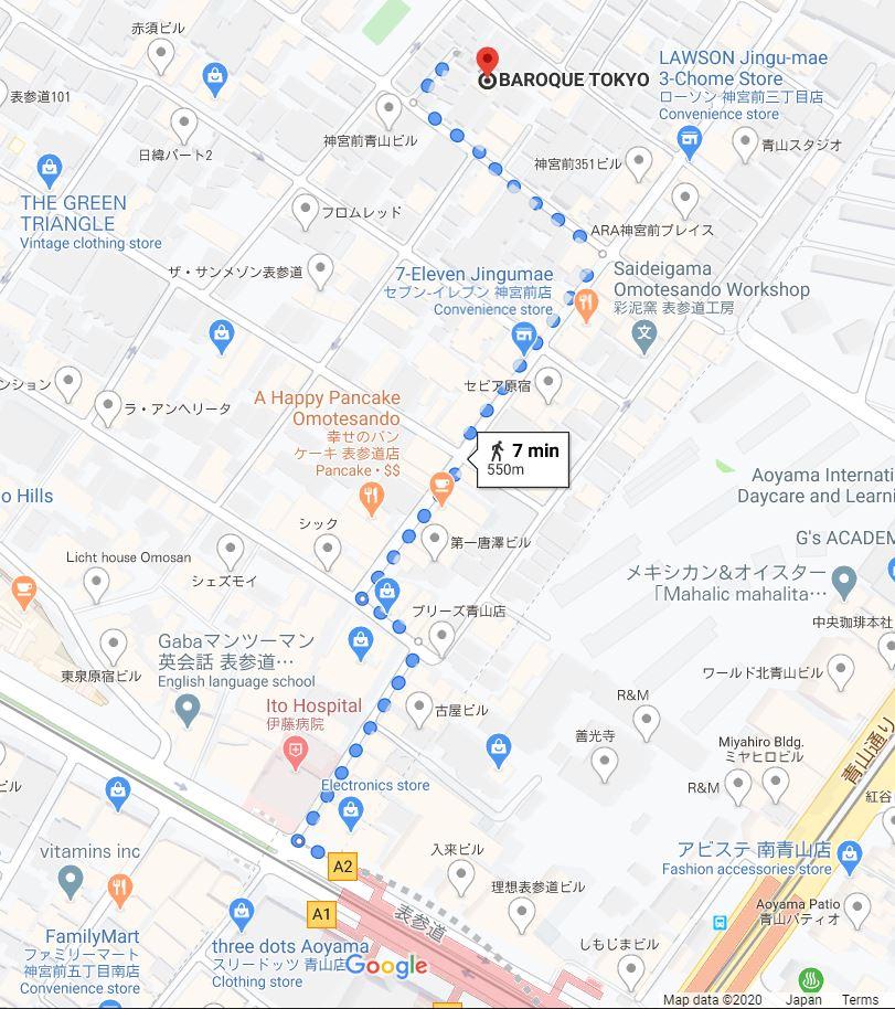Baroque Tokyo Map